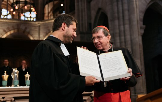 GEKE-Präsident Gottfried Locher und Kurienkardinal Kurt Koch