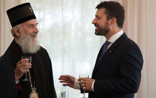 Serbisches Kirchenoberhaupt trifft Kirchenbundspräsident