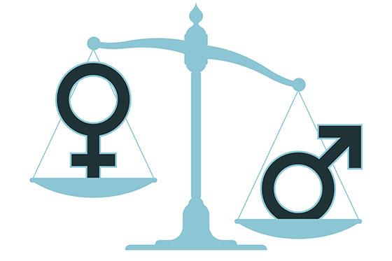 Waage, Symbol Frauen und Männer