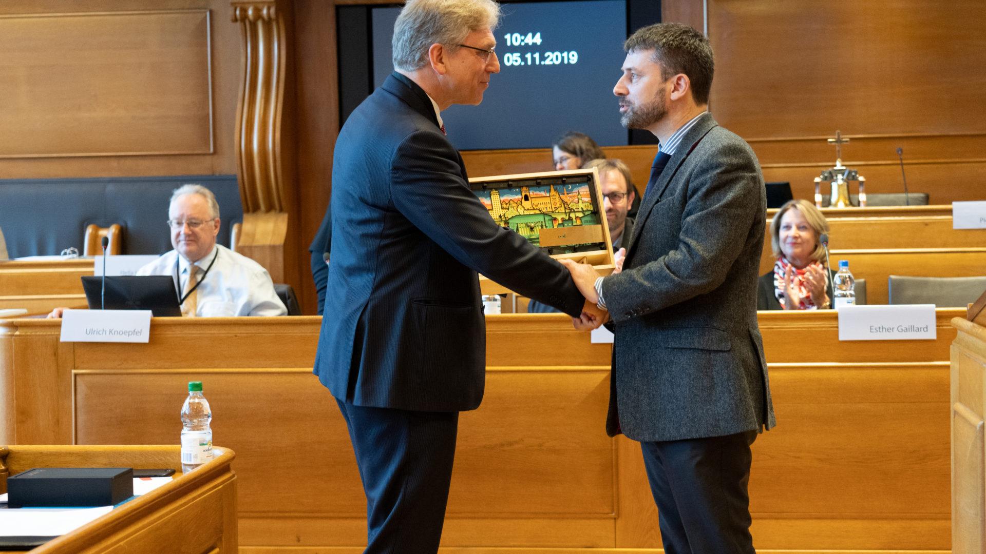 ÖRK-Generalsekretär Tveit, Ratspräsident Gottfried Locher