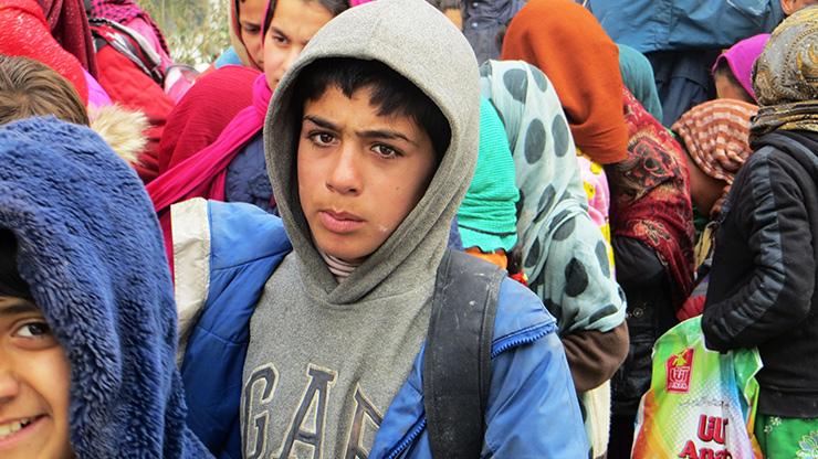 Jugendliche aus Lesbos