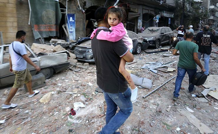 Beirut in Trümmer