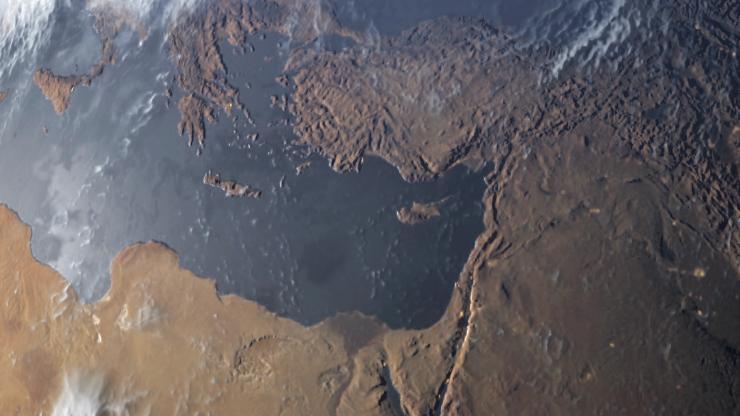 Satelitenaufnahme der Erde